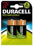 Duracell C Size Rechargeable Batteries 2200 mAH (2 pack) HR14